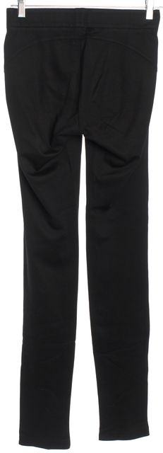 HELMUT LANG Black Elasticized Panel Structured Pull On Leggings