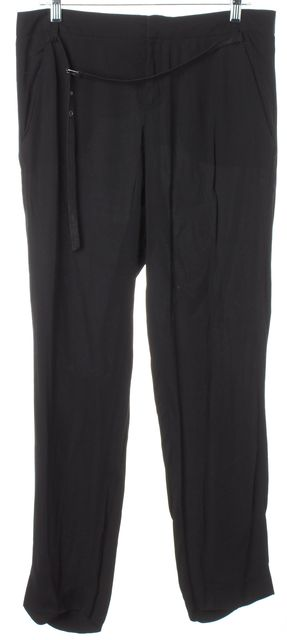 HELMUT LANG Black Belted Trousers Pants
