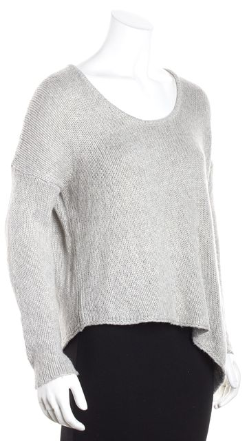 HELMUT LANG Gray Scoop Neck Sweater