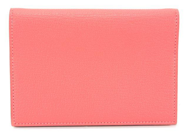 HERMÈS HERMÈS Lipstick Pink Poppy Orange Leather Grand Modele Leather Agenda Cover
