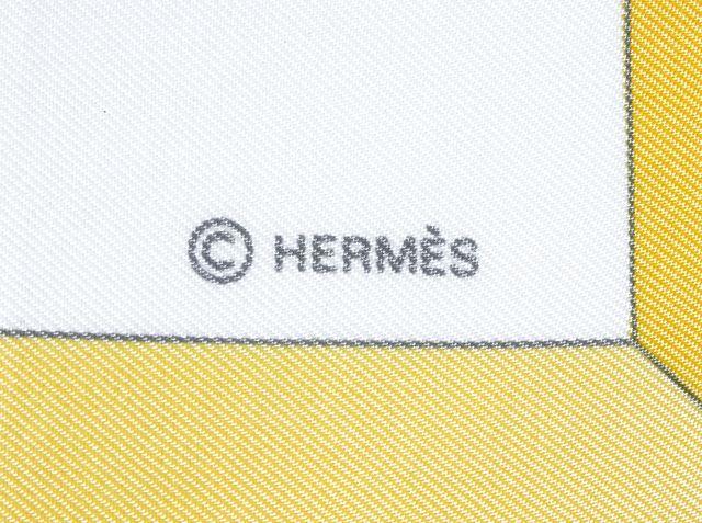 HERMÈS HERMÈS Yellow Sauvagine en Vol By Carl De Parcevaux 100% Silk Square Scarf W Box