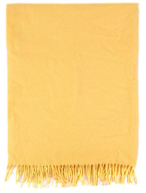 HERMÈS Mustard Yellow Cashmere Scarf