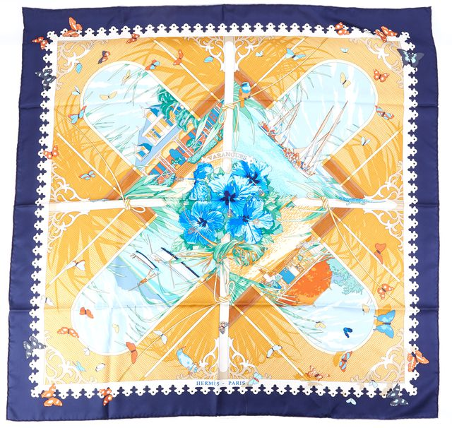 HERMÈS Multi-color Abstract Silk Scarf