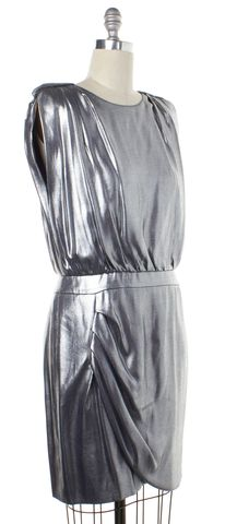 HUGO HUGO BOSS Metallic Silver Blouson Dress