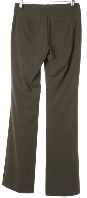 HUGO HUGO BOSS Olive Green Stretch Wool Flared Leg Dress Pants