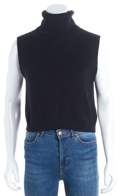 HUGO HUGO BOSS Black Silk Turtleneck Sweater