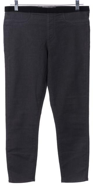 HELMUT HELMUT LANG Gray Capris Stretch Cotton Faux Pockets Leggings
