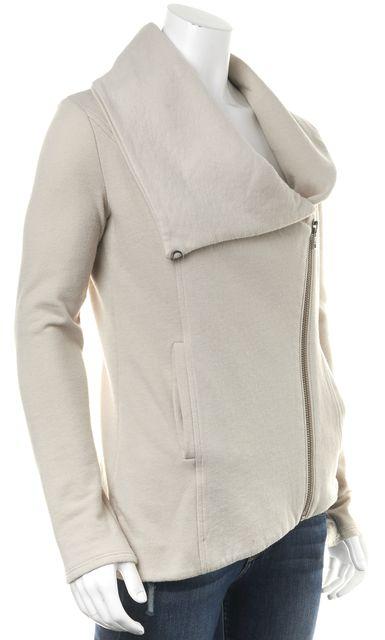 HELMUT HELMUT LANG Beige Zip Up Sweater Jacket