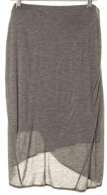 HELMUT HELMUT LANG Gray Draped Knee-Length Straight Skirt