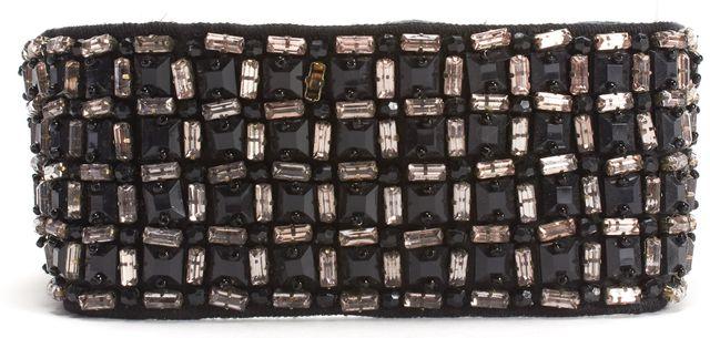 HAUTE HIPPIE Black Satin Embellished Belt