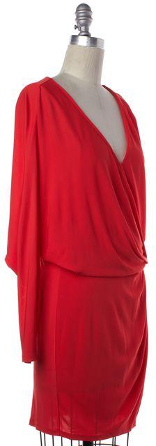 HAUTE HIPPIE Orange Wrap Dress