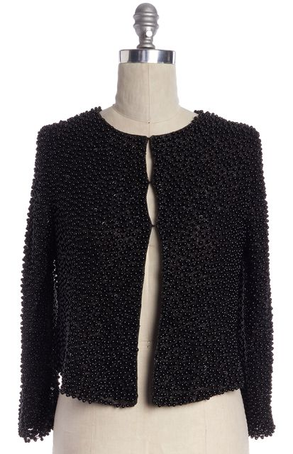 HAUTE HIPPIE Black Embellished Jacket