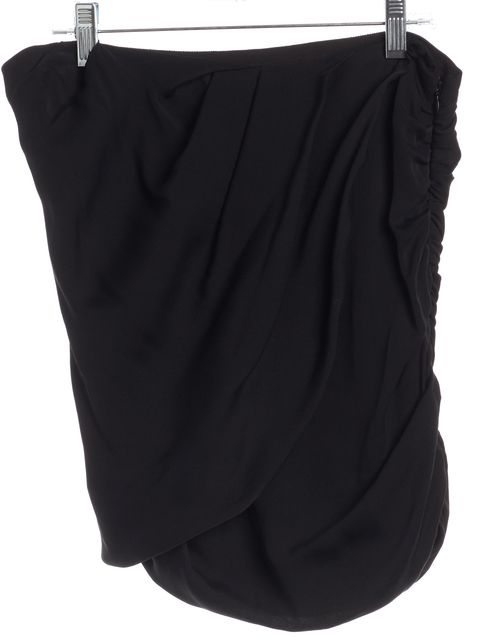 HAUTE HIPPIE Black Silk Mini Skirt