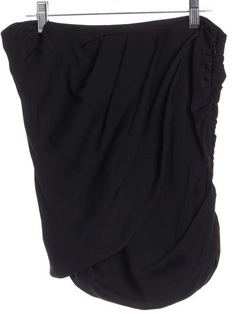 HAUTE HIPPIE Black Silk Mini Skirt