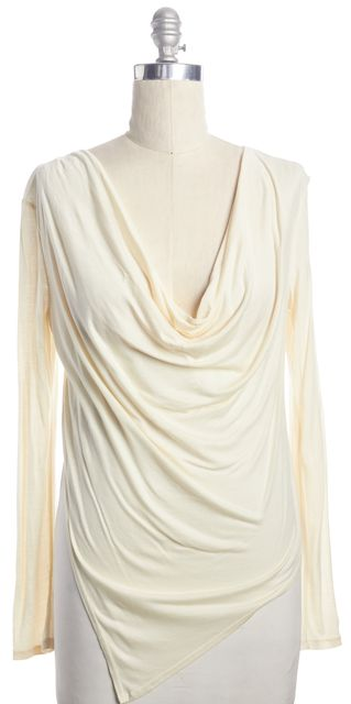 HAUTE HIPPIE Ivory Draped Blouse