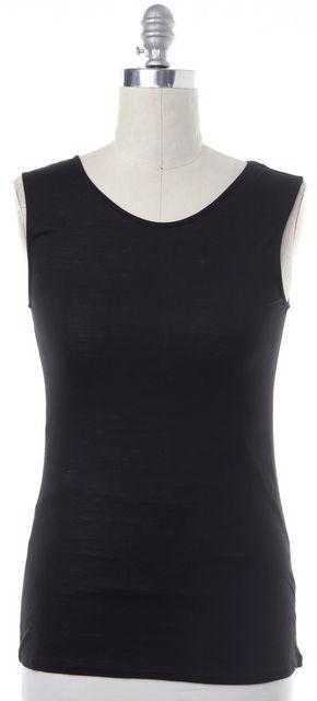 HAUTE HIPPIE Black Casual Sleeve-Less Blouse Knit Top