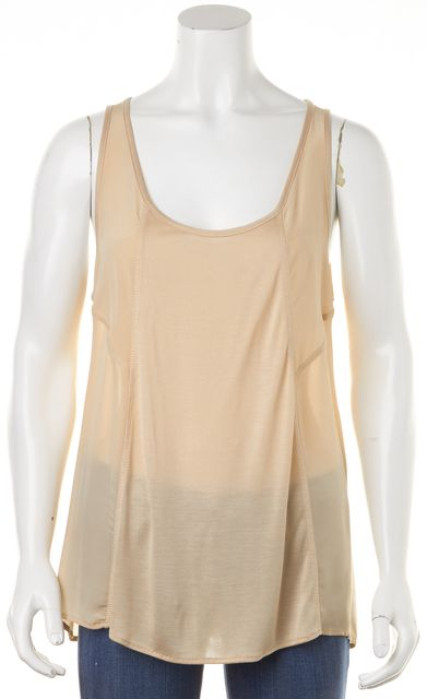 HAUTE HIPPIE Silk Beige Tank Top