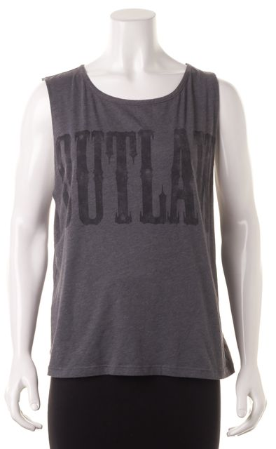 HAUTE HIPPIE Heather Gray Outlaw Graphic T-Shirt