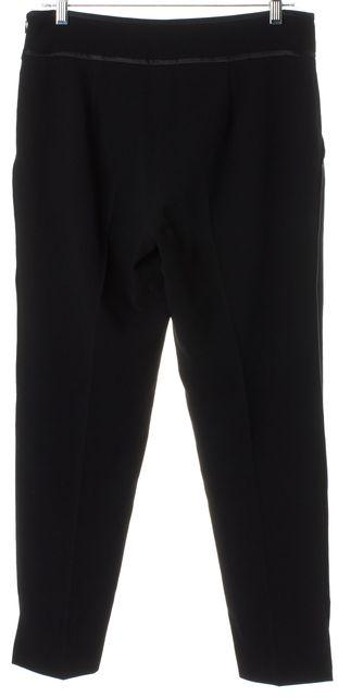 HAUTE HIPPIE Black Cropped Pleated Trouser Dress Pants