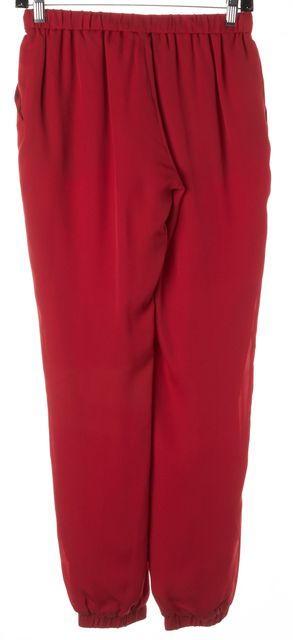HAUTE HIPPIE Cerise Red Silk Casual Jogger Pants