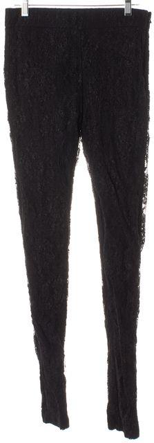 HAUTE HIPPIE Black Floral Lace Skinny Leggings