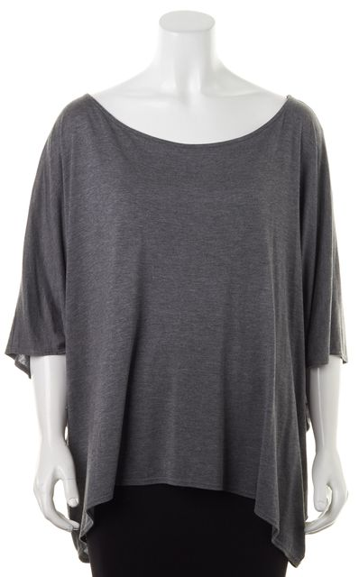HAUTE HIPPIE Dark Heather Gray Modal Dolman Sleeve Top