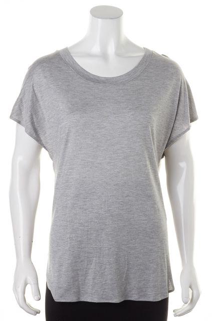 HAUTE HIPPIE Gray Horse Embellished Modal Cap Sleeve Basic T-Shirt
