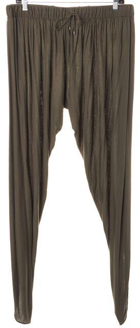 HAUTE HIPPIE Army Green Slim Stretch Drawstring Pants