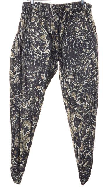 HAUTE HIPPIE Blue Beige Side Cut Out Modal Casual Pants