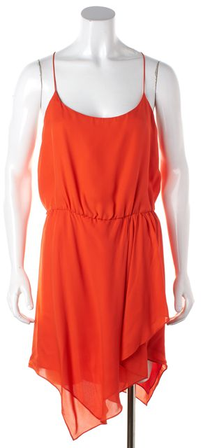 HAUTE HIPPIE Burnt Orange Silk Tiered Blouson Dress