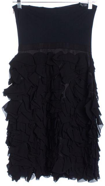 HAUTE HIPPIE Navy Blue & Black Fit & Flare Dress