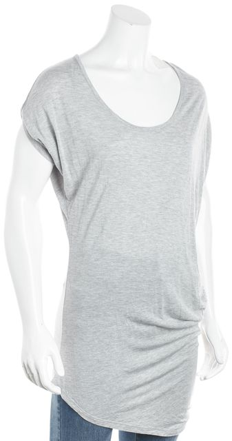 HAUTE HIPPIE Gray Short Sleeve Basic Tee T-Shirt