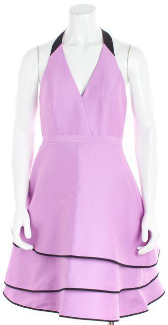 HALSTON HERITAGE Purple Lavender Halter Fit & Flare Dress