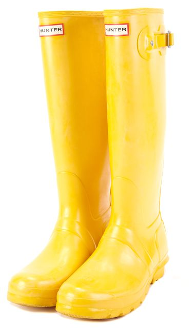 HUNTER Honey Yellow Tall Rainboots