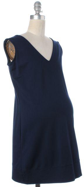 HATCH Maternity Navy Blue Jersey V-Neck Sleeveless Long Tunic Top