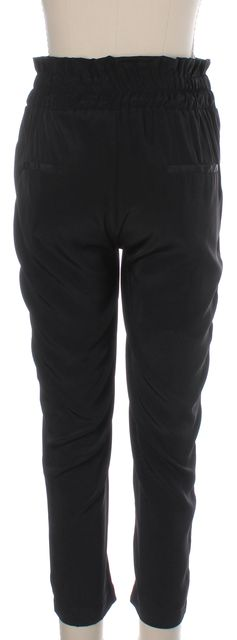 HATCH Maternity Black High Rise Cinched Waist Slim Cropped Pants