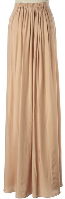 HATCH Maternity Beige Silk The Gown Wrap Style Maxi Skirt