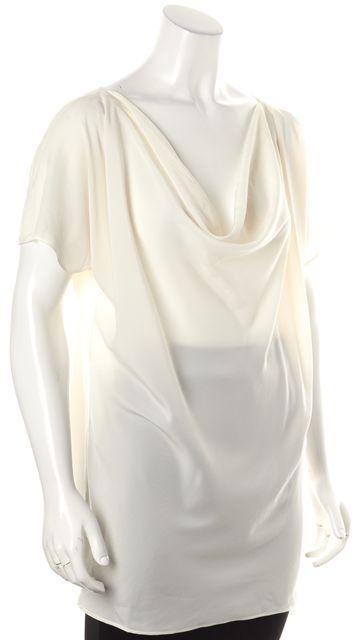 HATCH Maternity Ivory Cowl Neck Cap Sleeve Blouse