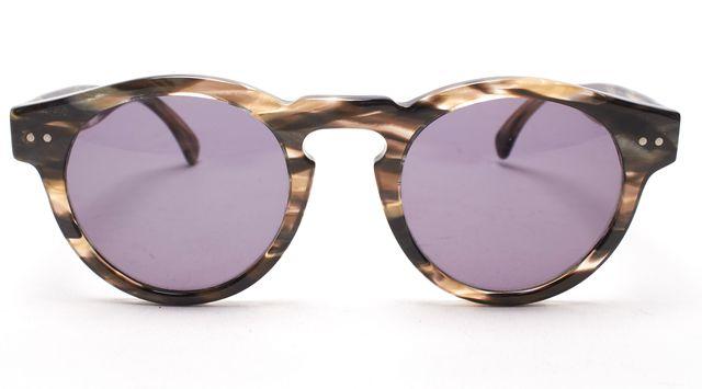 ILLESTEVA Gray Acetate Frame Leonard Round Sunglasses