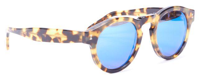 ILLESTEVA Brown Tortoiseshell Acetate Leonard Round Sunglasses