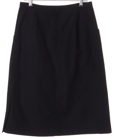 ISSEY MIYAKE Black A-Line Cotton Skirt