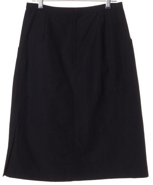 ISSEY MIYAKE Black A-Line Cotton Skirt