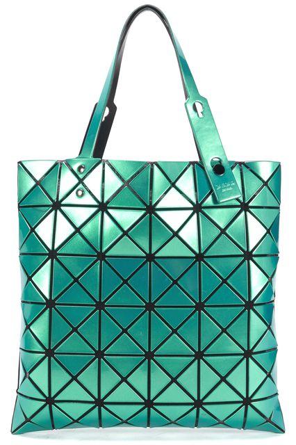 ISSEY MIYAKE BAOBAO Mint Green Geometric Vinyl Bao Bao Prism Tote Bag