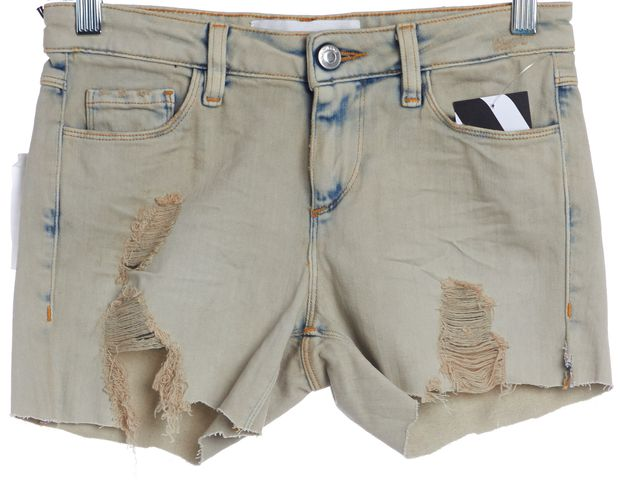 IRO Blue Clay Cut Off Distressed Denim Shorts