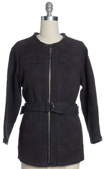IRO Gray Embroidered Belted Jacket