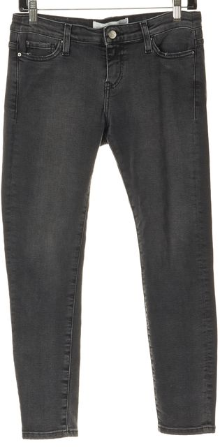 IRO Gray Stretch Cotton Alyson Cropped Skinny Jeans