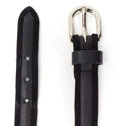 ISABEL MARANT Black Leather Suede Trim Belt Size M
