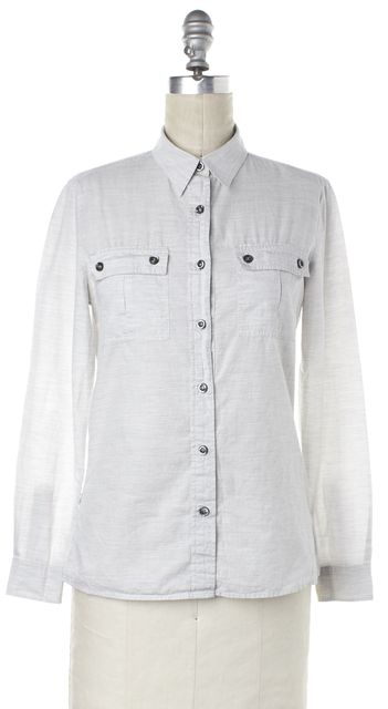 ISABEL MARANT Light Gray Button Down Shirt