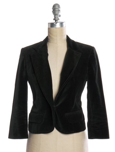 ISABEL MARANT Green Velvet Single Button Jacket