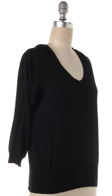 ISABEL MARANT Black Hooded Knit Top Shirt